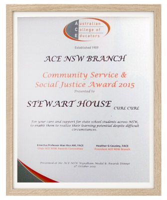 stewart house awards social justice